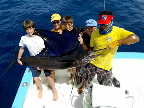 deep sea fishing out of Riu Guanacaste